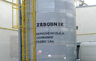 Zásobník repkového oleja